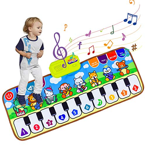 Vchiming Kids' Piano Mat, Musical Keyboard Mat Floor Dancing Mat Play Blanket for Toddlers, Early Educational Music Toys Gift for Boys Girls