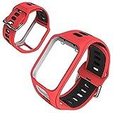 GoGlor Cinturino per Tomtom Runner 3 Spark 3 Runner 2 Golfer 2 Adventurer GPS Orologio, Multisport Smartwatch Band Accessori Braccialetto Design Poroso Cinturini...