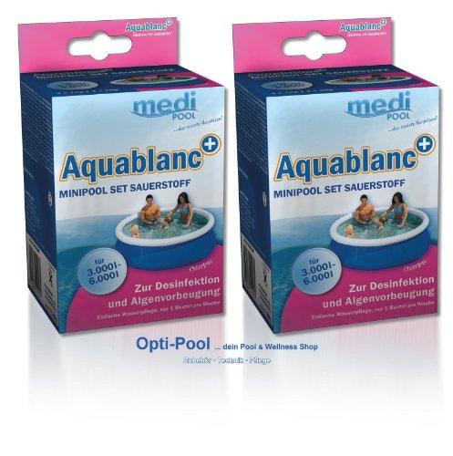 2 x Aquablanc MiniPool-Set Sauerstoff, 2 x 320g