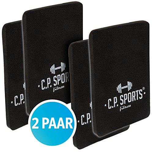C.P. Sports Griffpolster 4er Set (2Paar) 3mm und 6mm - 10x14cm, Doppelpack, Griffpads für Fitness, Bodybuilding & Krafttraining (6mm-2Paar)