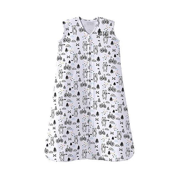 HALO Sleepsack 100% Cotton Wearable Blanket, Huggy Bears, Large