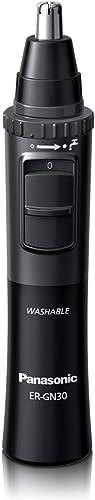Panasonic Men's Ear and Nose Hair Trimmer, Wet Dry Hypoallergenic Dual Edge Blade - ER-GN30-H
