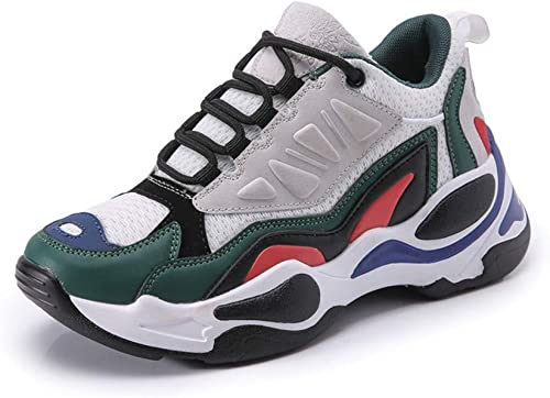 ZLYZS mujeres Deportes zapatos para Correr Hauszapatos De Deporte Ligeras Hauszapatos Deportivas para Caminar Correr Gimnasio Fitness,verde,43