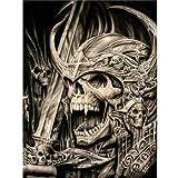 JHGJHK Arte Creatividad Horror cráneo Pintura al óleo Vacaciones Arte de la Pared Decoraciones Sala de Estar decoración de la habitación (Imagen 21)