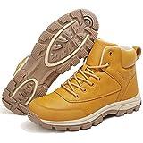 [SIXSPACE] スノーブーツ レディース スノーシューズ 防寒靴 アウトドア ウィンターシューズ スノーぶーつ 作業靴 イエロー 24.5cm