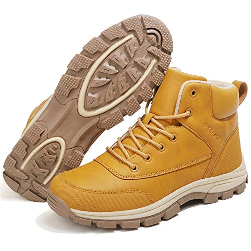 [SIXSPACE] スノーブーツ スノーシューズ 防寒靴 アウトドアシューズ トレッキングシューズ 作業靴 登山靴 イエロー 29cm