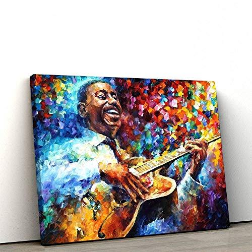Quadro Decorativo 60x90cm Guitarrista George Benson