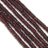 Natural Garnet Faceted Rondelle Heishi Tyre Beads Heishi Beads,Natural Garnet Beads,Natural Garnet Gemstone Beads,5.5to6.5mm 18 Inch Strand