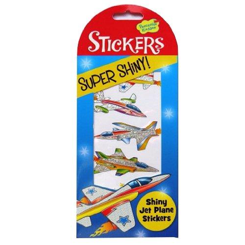Peaceable Kingdom Super Shiny Autocollants - Avions à Réaction Shiny - Autocollants Folied et Holographiques