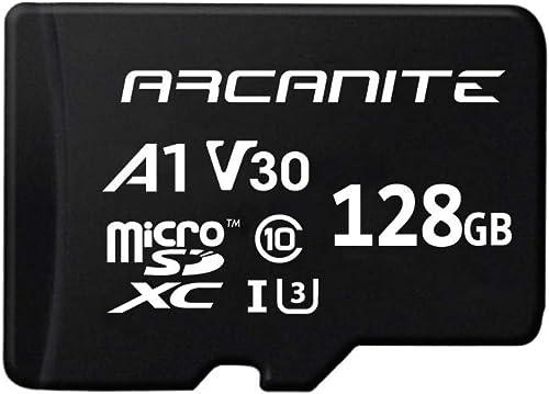 ARCANITE 128 GB microSDXC-Speicherkarte mit Adapter - UHS-I U3, A1, V30, 4K, C10, microSD - AKV30A1128 product image