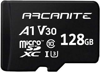 ARCANITE - Tarjeta de memoria microSDXC de 128 GB con adaptador SD UHS-I U3 A1 V30 4K Clase 10 Micro SD Velocidad de lectura de hasta 90 MB/s.