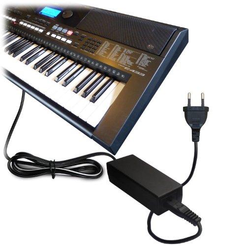 ABC Products - Cable adaptador de pared para Yamaha 12 V, 12 V, CC 12 V, PA-5D, PA-150, PA-150A, 5D, SEPA6, PA-6, PA-3C, EP-A3, KP-A3, PA-130/PA4, PA-40/PA-3B/PA-3C/PA-1/PA-1B) para Yamaha Synthesizers, Stage Piano's / Portátil Keyboards / Piaggero Digital Piano / DD um Machine Serie etc (modelos indicados más abajo)