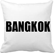 DIYthinker Bangkok Thailand City Name Square Throw Pillow Insert Cushion Cover Home Sofa Decor Gift 40 X 40Cm (There are S...