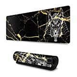 HTESWA Ancient Egyptian God Anubis Head Non-Slip Mouse Pad Computer Mouse Pad Gaming Mouse Pad Keboard Pad 11.8x31.5 in