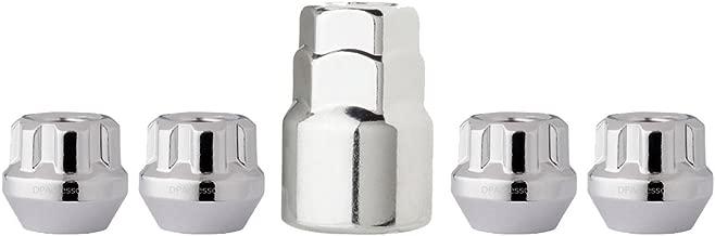 DPAccessories LOB2L6HC-CH04LK4 Chrome Wheel Locks 12x1.5 Open End Bulge Acorn 19mm & 13/16