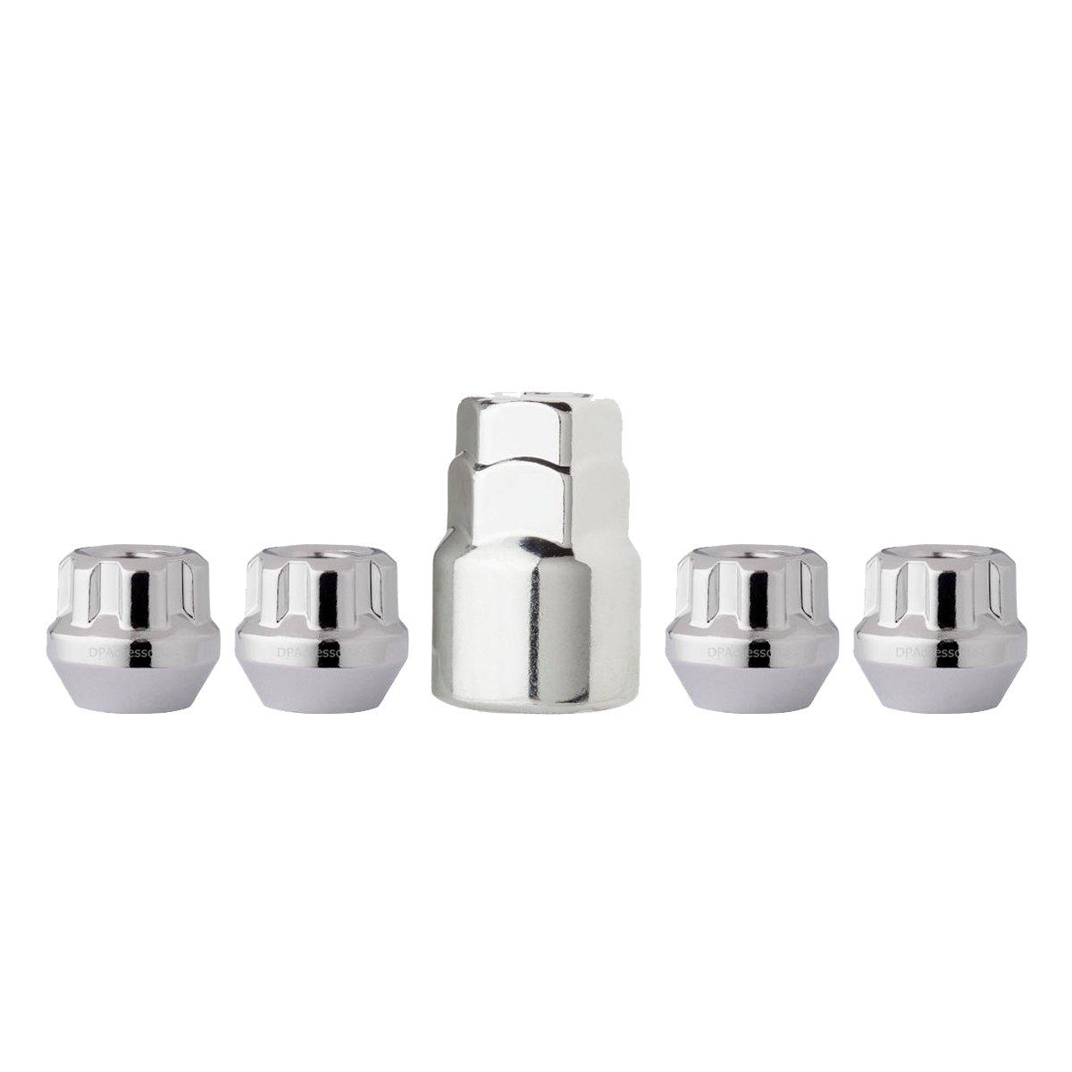 Gorilla Automotive Chrome Acorn Guard Wheel Locks Lug Nuts 14x1.5 14mm 4 Set NEW