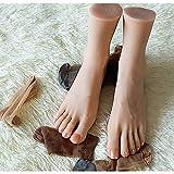 ZXCVASDF 1 par de pies Silicona Suave, Modelo pie Falso con Clavo, Vida maniquí de Vida con Hueso, exhibición la joyería de la joyería la Sandalia calcetín y la práctica del Arte de Las uñas