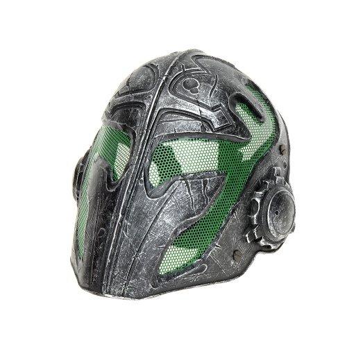 Cool Knights Tempelschutzmaske für Airsoft Paintball Display (Silber)