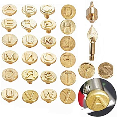 Wood Burning Tips Letters,Wood Burning Alphabet Template for Embossing and Carving Crafts