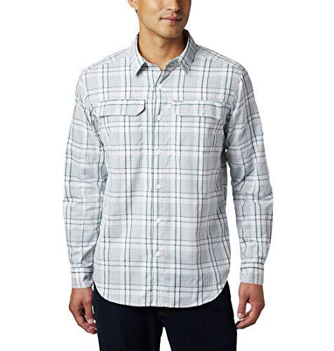 Columbia Silver Ridge 2.0 Camisa A Cuadros De Manga Larga, Hombre, Rain Forest Grid Plaid, L