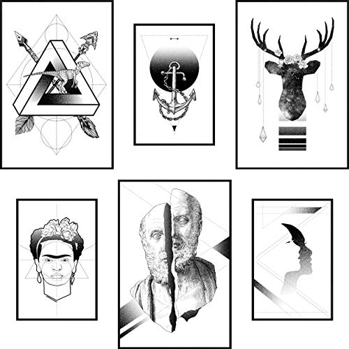 decomonkey - Bilder, Poster, Kunstdrucke & Skulpturen in Poster Set #10, Größe Poster mit Rahmen
