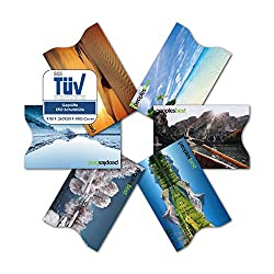 TÜV certified RFID & NFC credit card protective cover (6 pieces) super thin & robust for 100% data protection - motifs (landscape)
