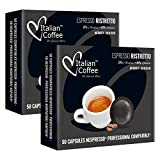 100 Capsule di caffè Italian Coffee compatibili Nespresso® Professional* (Espresso Ristretto)