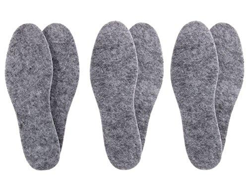biped 3 Paar Filzsohlen in extra dicker Ausführung – Isolierend & strapazierfähig z1014 (39)