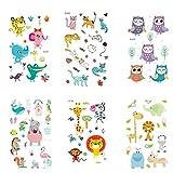 STOBOK 6 Hojas de Tatuajes para niños, calcomanías de Tatuaje para Fiesta de Disfraces, Tatuajes temporales para decoración