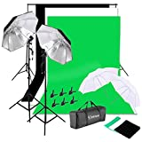 Kshioe 2Mx3M/6.6ftx9.8ft Background Support System 1350W 5500K Umbrella Continuous Lighting Kit for Photo Studio Product, Portrait and Video Shoot Photography