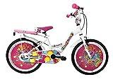 IBK Bici Bicicletta Bambina Love Misura 20' Colore Bianco con PARAFANGHI (Bianco)