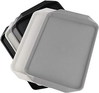 Ucake Serviertablett aus Kunststoff, groß, rechteckig, schw