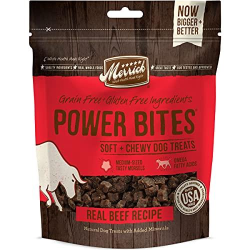 Merrick Power Bites Dog Treats, Real Beef Recipe - 6 oz. Bag
