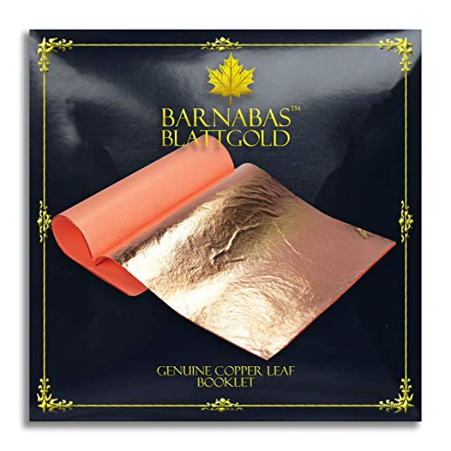 Barnabas Blattgold – echte Kupferblätter, professionelle Qualität, Heftchen Loose, 5.5