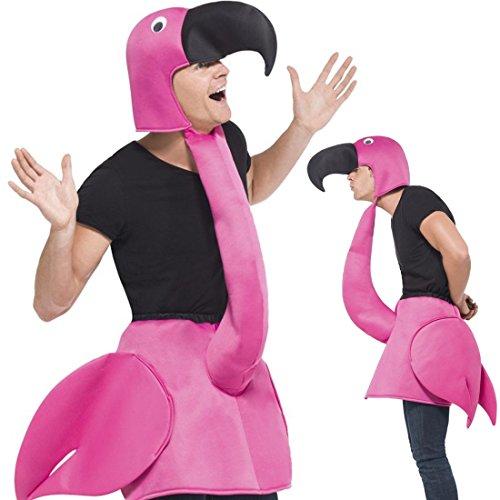 Amakando Vogelkostüm JGA Tierkostüm 1 TLG. Flamingokostüm Flamingo Kostüm Karnevalskostüme Tier Vogel Karnevalskostüm Faschingskostüm lustig