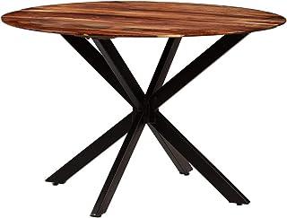 Tidyard Table de Salle à Manger Bois Massif de Sesham 120 x 77 cm