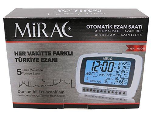 Mirac Ezan Saati Otomatik, Automatische Azan Uhr, Auto Islamic Azan