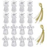 Gearific Ornamenti di Angeli in Vetro da 16 Pezzi per Decorazioni per Alberi di Natale-Trasparenti