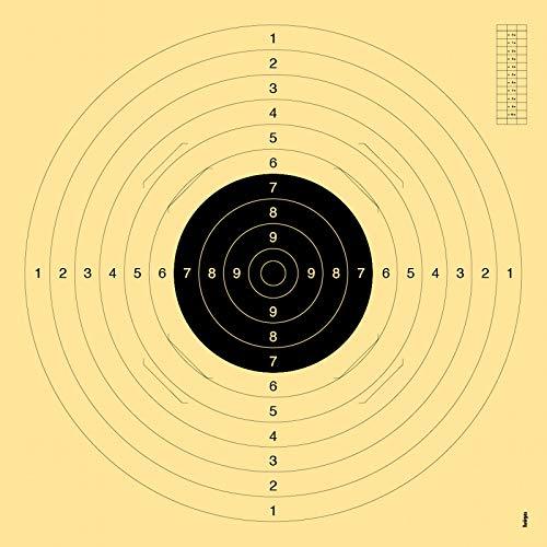 OpTacs 20er Pack - Pistolen-/ Kleinkaliberscheibe 55 x 52 cm mit Einsteckschlitz