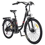 VIVI Bicicleta Electrica E-Bike 26', Urbana Bici Electrica para Adultos Unisex, Motor 250 W, Batería de Litio Extraíble 36V 8Ah, Velocidad máxima 25 km/h