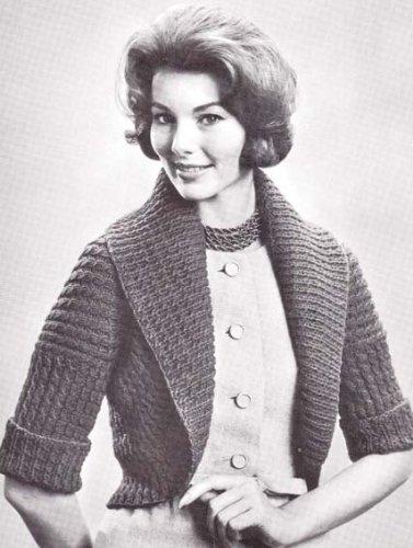 Knit Hug Me Tight Bolero Sweater #B-233 Knitting Pattern Sizes 32 34 36 38 40 (English Edition)