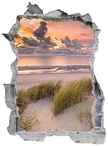 Nordsee Strand Dünen Meer Wandtattoo Wandsticker Wandaufkleber E0357 Größe 46 cm x 62 cm
