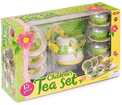 Tobar SC-CPTS-Dinette en étain Service à thé décor Cupcake, Schylling, Rose