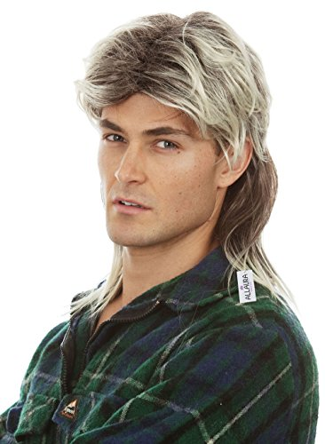 Mullet Wigs for Men 80s Costumes Mens Blonde Mullet Wig Joe Exotic White Trash Costume Accessories