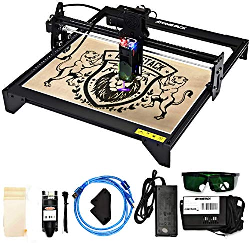 """Upgraded Laser Engraving MachineA5, 20W Portable Laser Engraver 5000mW, Laser Printer Engraver Etching Range 17""""×16'', Win/MAC/Mobile System, Use to DIY Art, for Metal, Vinyl, Wood, Leather etc."""