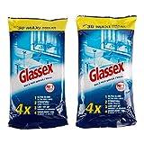 Glassex Limpia el cristal de forma reutilizable 2 paquetes de 30 unidades.