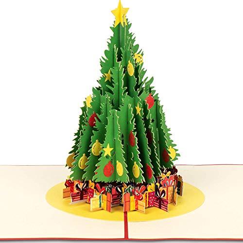 PaperCrush® Pop-Up Karte Weihnachtsbaum - 3D Weihnachtskarte mit Tannenbaum für Kinder, Frauen und Männer