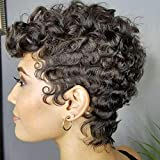 Naseily Afro Curly Synthetic Wigs For Black Women...