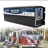 NLJY Inversor Conmutable De 12v 220v, Inversor De Automóvil, Convertidor De Voltaje De Onda Sinusoidal Pura De 3000w, Adecuado para Automóviles, Automóviles con Paneles Solares,5000W-48V