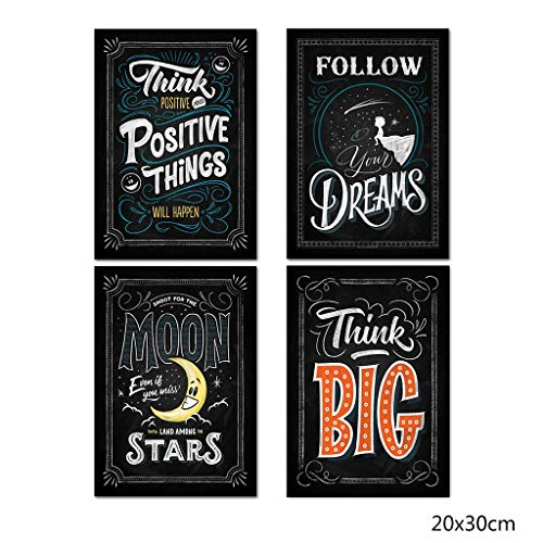 niumanery Inspirational Classroom Posters -Chalkboard Motivational Quotes for Students B